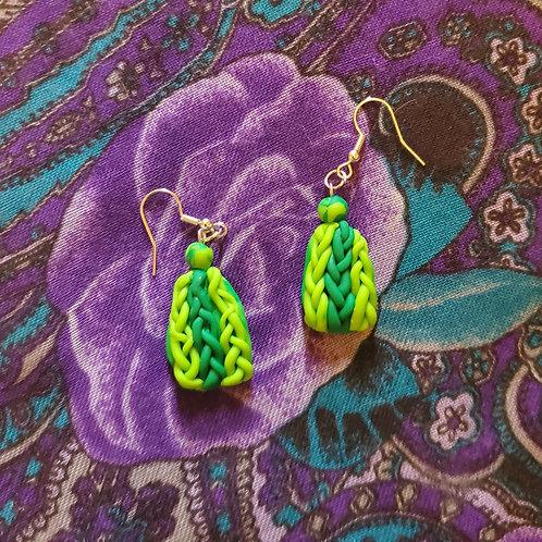 Avacado Knit Earrings