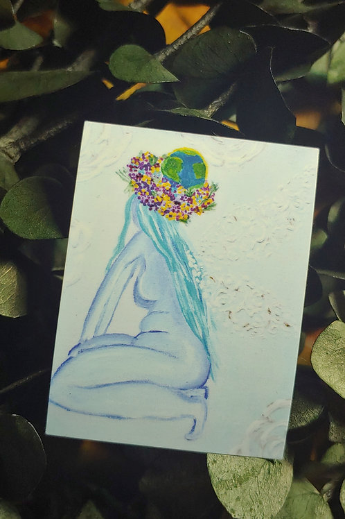 """Mother Gaia Fairy"" Sticker"