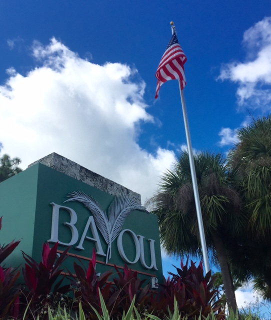 Bayou Club Community Entrance