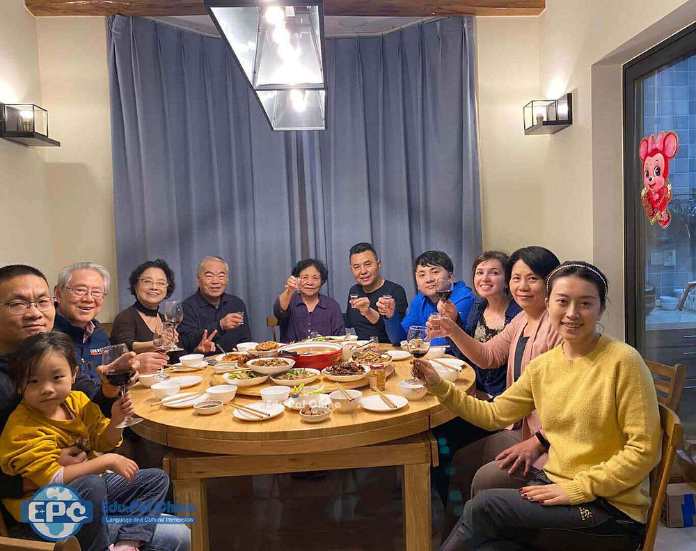 Cultural Care Au Pair in China: New Year Dinner with family