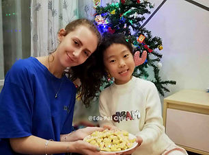 Edu-Pal Miriam and her host Child