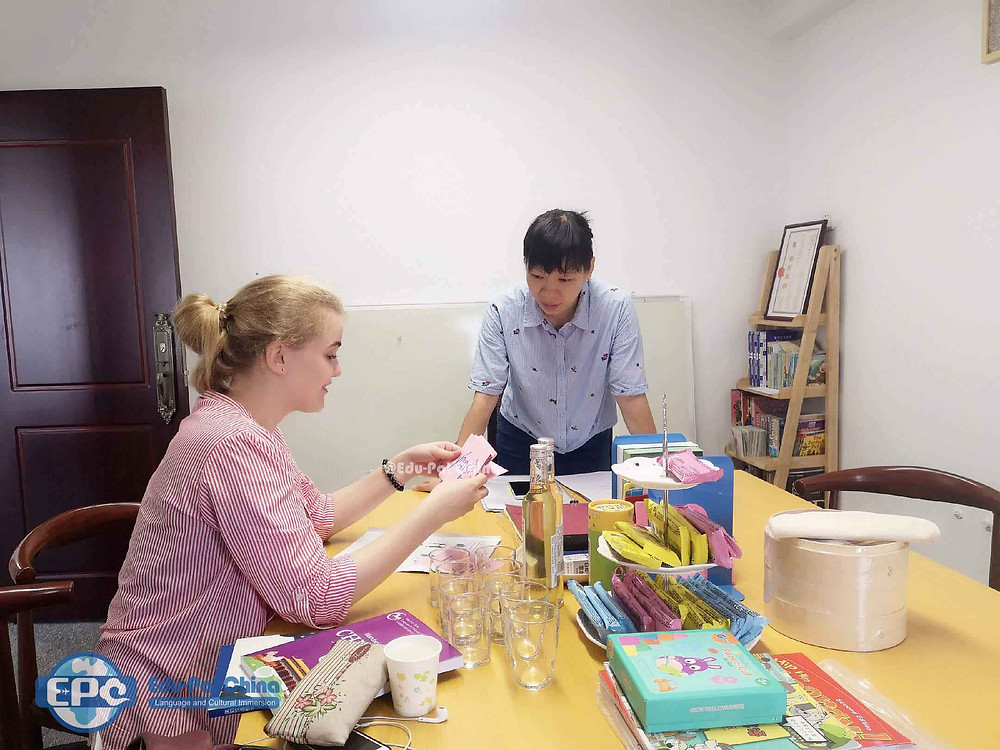 Cutural Care Au Pair in China: Language Class
