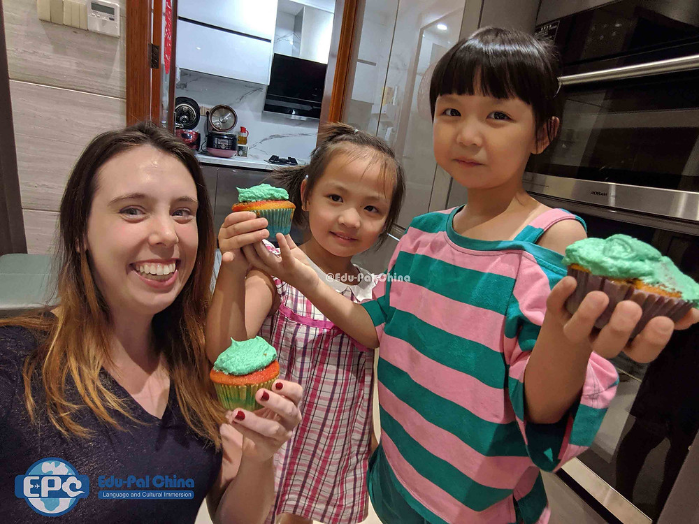 Cultural Care Au Pair in China: Cooking with host kids