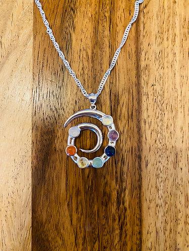 Gorgeous Chakra Pendant - Sterling Silver