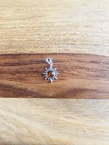 Beautiful Amber Pendant - Set In Sterling Silver