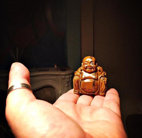 Healing Buddha Tiger's Eye Statue