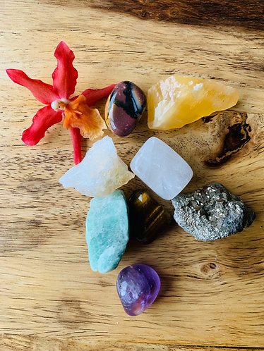Crystals for Wealth Vase