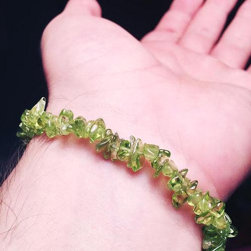 Natural Peridot Bracelet