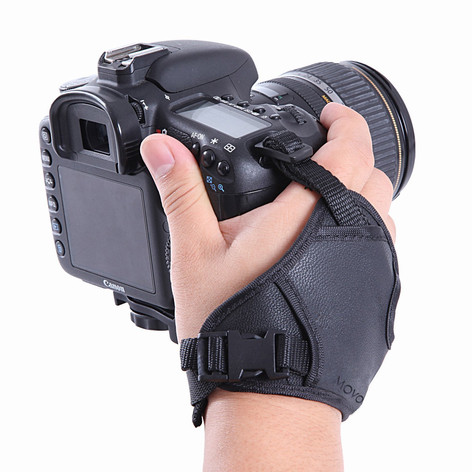 Movo HSG-2 DualStrap Padded Wrist and Grip Camera Strap