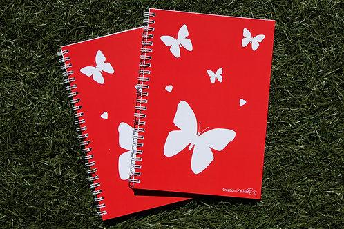 Coffret de 2 cahiers A5 à spirales papillons