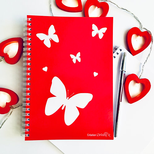 Coffret de 2 cahiers A5 à spirales - Papillons