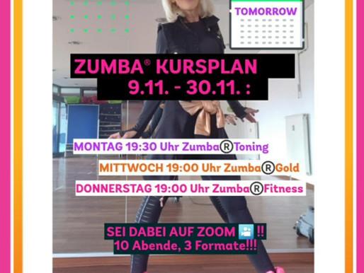 Zumba Online Angebot ab 9.11.