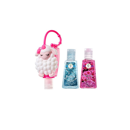 Lambie holder with 2 sanitizers