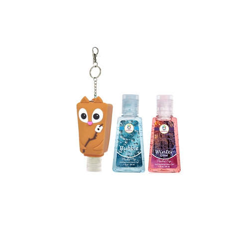 Nutty holder with 2 sanitizers