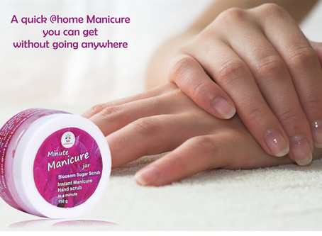 A QUICK @HOME MANICURE YOU CAN GET WITHOUT GOING ANYWHERE!!