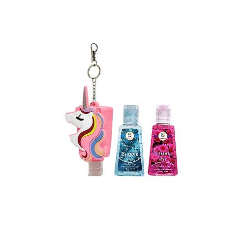 Unicorn holder with 2 sanitizers