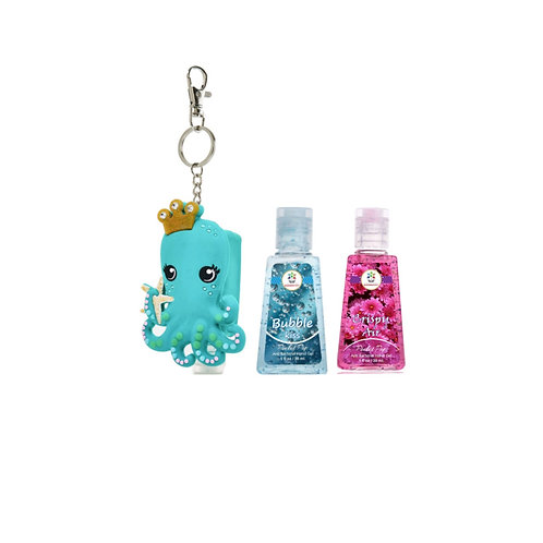 Octopus holder with 2 sanitizers