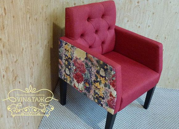 """Кресло """"Цветы"""" красное"""