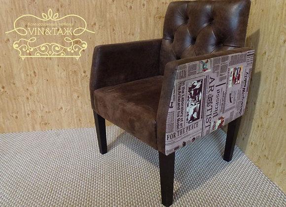 """Кресло """"Сигарное"""" темно-коричневое"""