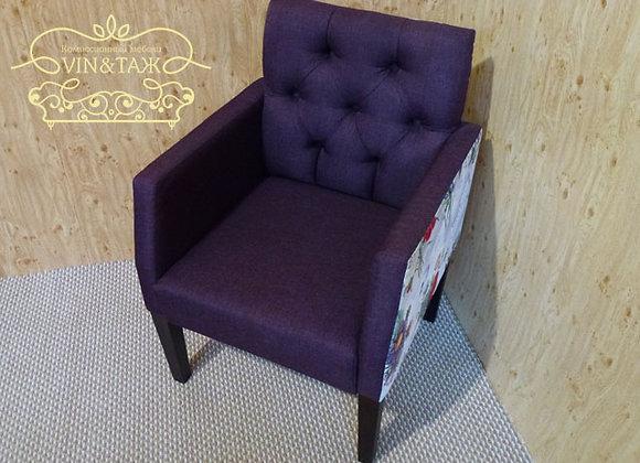 """Кресло """"Цветы"""" фиолетовое"""