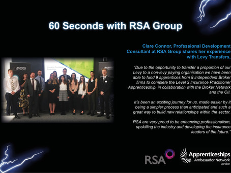 60 Seconds with RSA Group: Levy Transfers