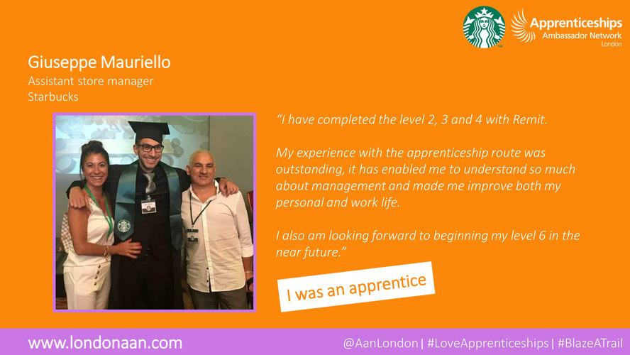 Giuseppe Mauriello #LoveApprenticeships_