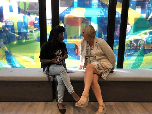 Ambassador Anne Ashworth meeting the Vice President of NUS Further Education, Shakira Martin