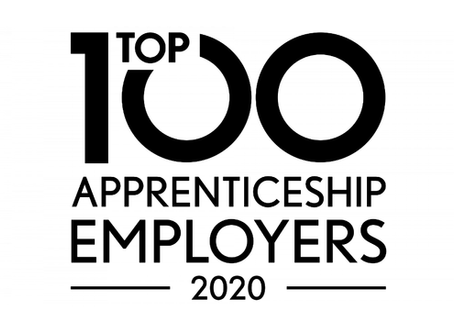Top 100 Large Apprenticeship Employers List - Well done!