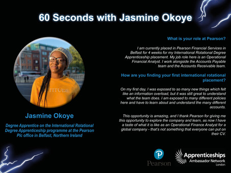 60 Seconds with Jasmine Okoye
