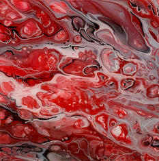 Blown Red Glass