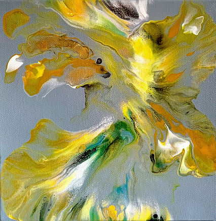 Stand Still My Sunshine acrylic abstract artwork by Villa Norse Artistry