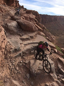 Riding MTB on Amasa Back, Moab UT