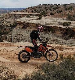 Riding West Rim in Rabbit Valley