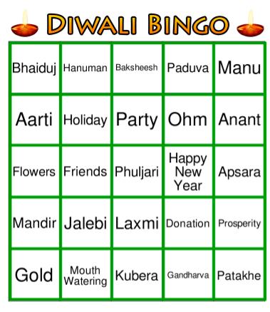 Diwali Bingo