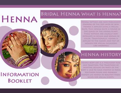 Local Henna Artist Brochure