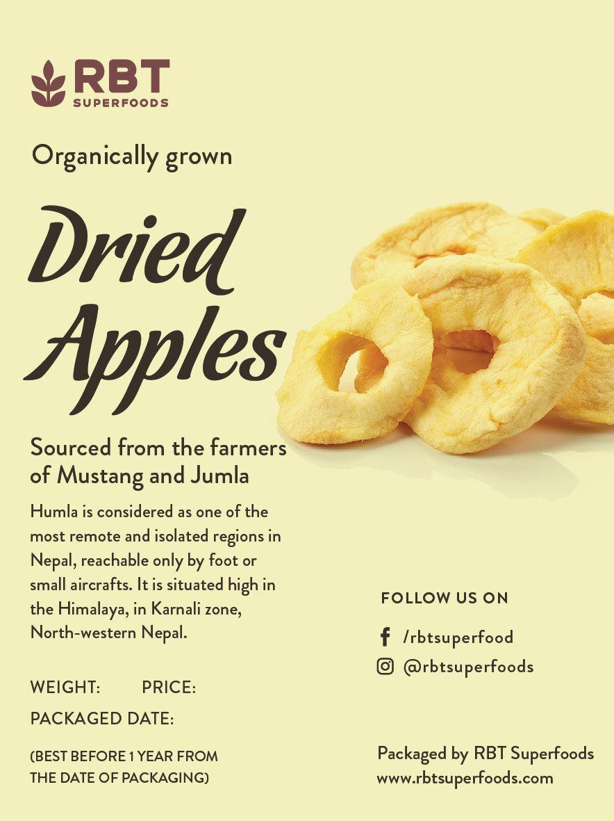 Dried Apples (nett weight: 150 grams)