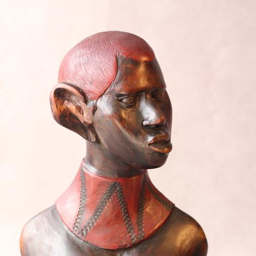 African Woman Wood Sculpture
