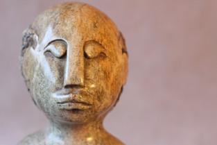 African Bust Stone Sculpture