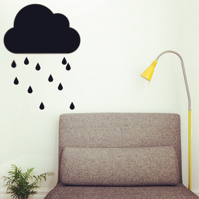 #kleef#clouds#raindrops#stickers#interieur