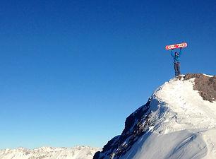 Snowboarding at 14k feet in the Colorado Rockies.