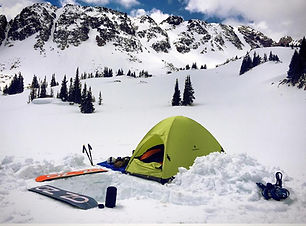 Backcountry winter camping