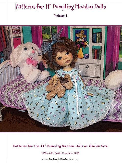 """11"""" Dumpling Meadow Doll Patterns Volume 2"""
