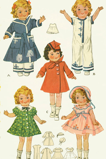 "18"" Shirley Temple Pattern Set"