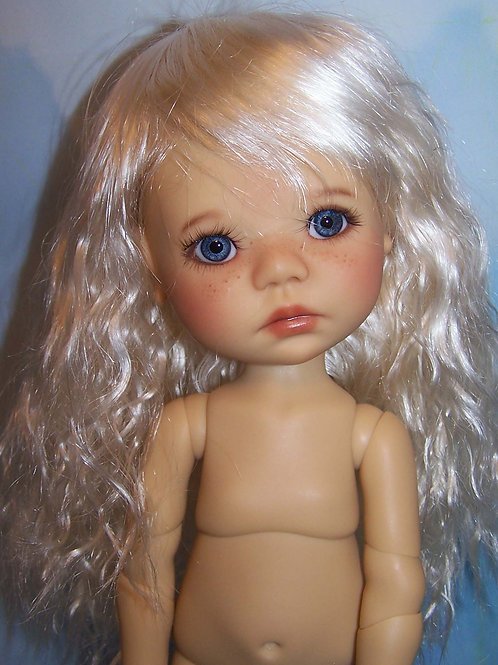 "#342 Wig for 11"" Dumpling Dolls Bleach"