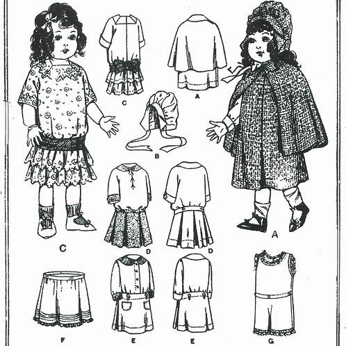 "18"" Doll Pattern 8596"
