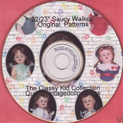 "22"" Original Saucy Walker Patterns on CD"