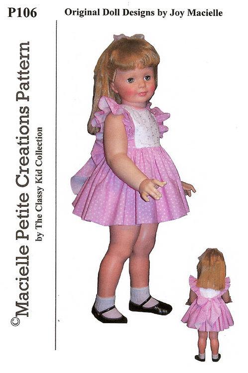 PDF - P106 Party Pinafore Dress Patty Playpal