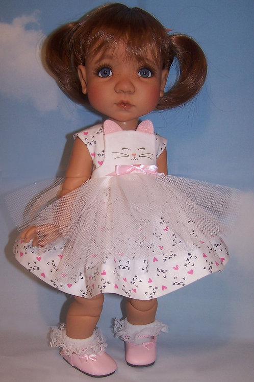"""Kitty Dress with Pinafore for 16"""" Mae or Aya"""