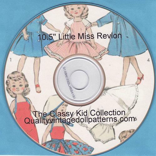 """10.5"""" Little Miss Revon Patterns on CD"""