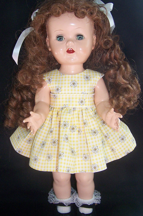 "Yellow Daisies Dress for 16"" Terri Lee or 16"" Saucy Walker"